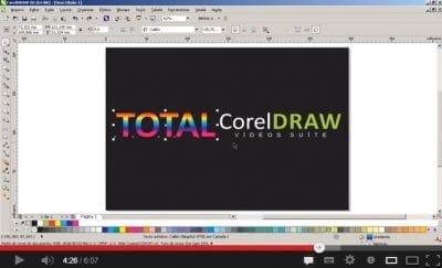 Adicionando reflexo translúcido nas fontes do CorelDraw