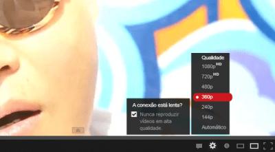 YouTube disponibiliza vídeos de baixa resolução