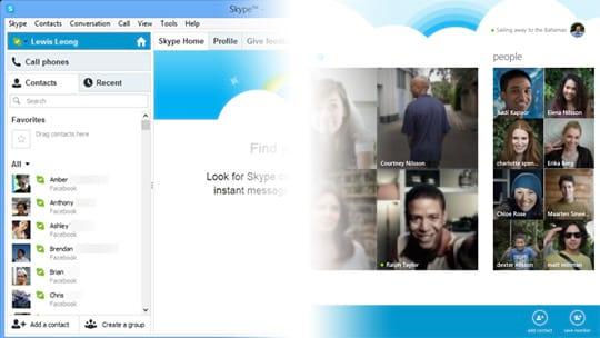 Qual é a diferença entre o Skype para Windows 8 e o Skype para Windows desktop?