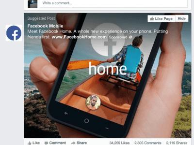 Facebook Home já está disponível para alguns celulares