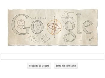Leonhard Euler é o homenageado da vez do Google