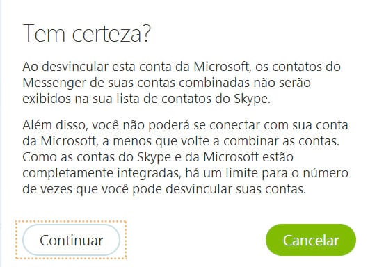Como desvincular contas da Microsoft ou do Facebook no Skype?
