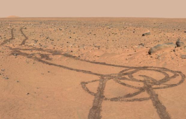Desenho de suposto pênis em Marte repercute na internet
