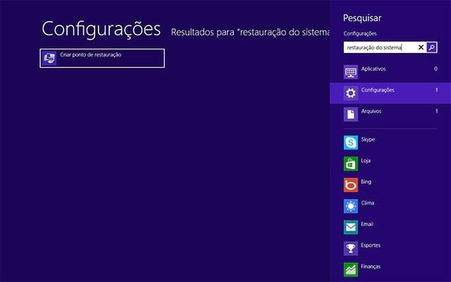 Como criar um ponto de restauração no Windows 10 e no Windows 8?
