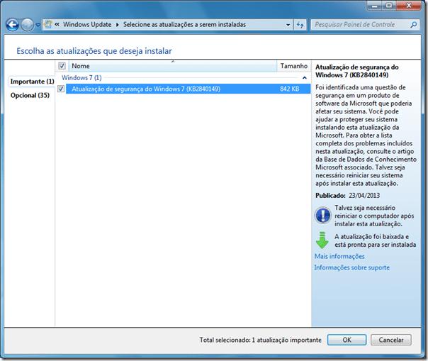 Microsoft corrige falha em atualização do Windows 7