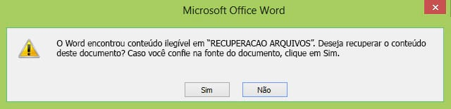 Como recuperar documentos danificados do Word?