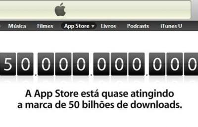 10 mil para o usuário que baixar o app nº 50 bilhões da App Store