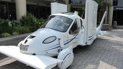 Carro voador estará disponível no mercado em 2020