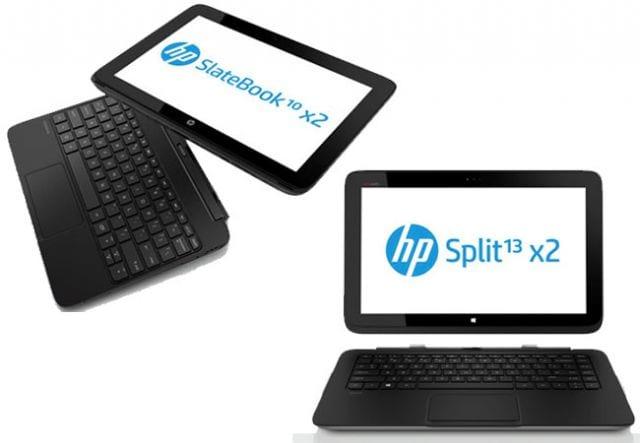 HP anuncia híbridos Split x2 e SlateBook x2