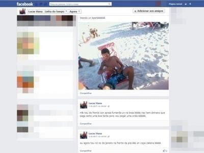 Após exibição no Facebook, jovem é reconhecido e preso