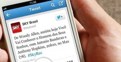 Através do Twitter usuários da Sky TV podem gravar programas