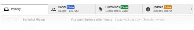 Gmail irá contar com novas guias de classificação, informa site