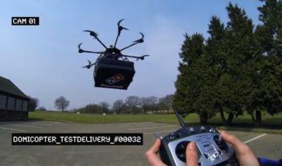 Pizzaria do Reino Unido contrata drone para entrega de pizzas