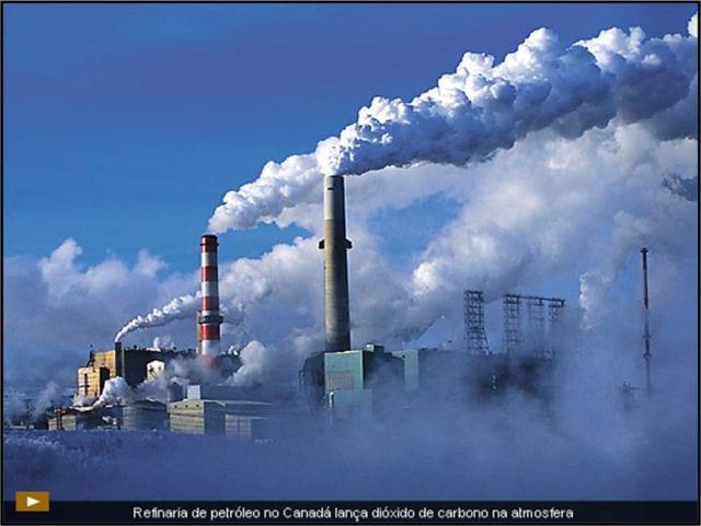Emissão de CO² no meio industrial