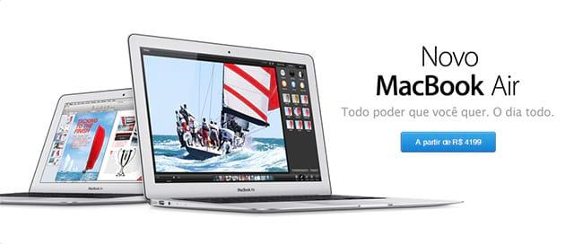 MacBook Air e iPhone 5 estão disponíveis na loja online da Apple no Brasil