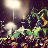 Usuários do Instagram registram protestos pelo país