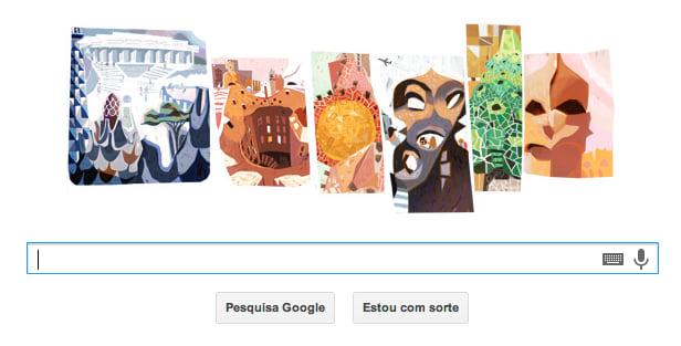 Antoni Gaudí é homenageado pelo Google