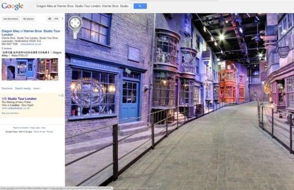 Google Street View adiciona o cenário Beco Diagonal do filme Harry Potter