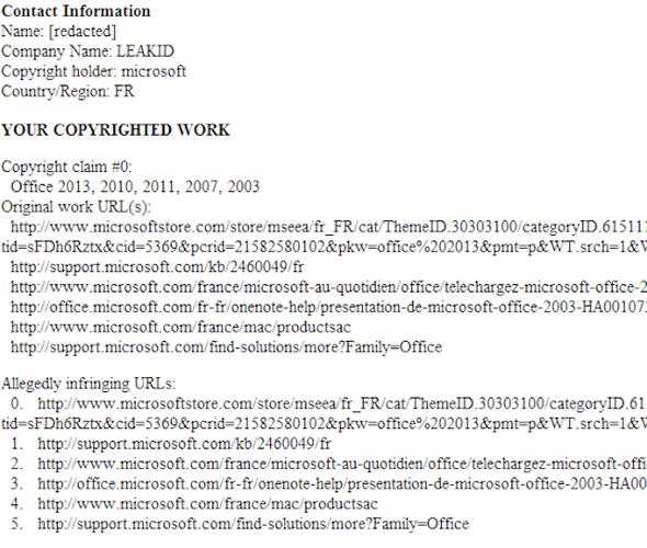 Microsoft solicita ao Google a remoção do endereço Microsoft.com