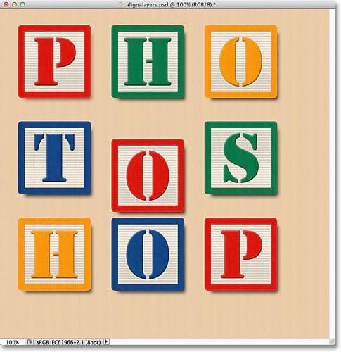 Como alinhar e distribuir camadas no Photoshop