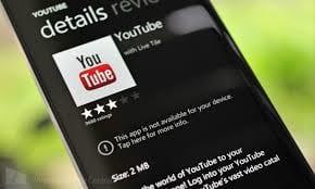 Youtube fica novamente bloqueado para Windows Phone