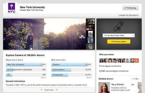 Para ajudar estudantes, Linkedln cria páginas de universidades