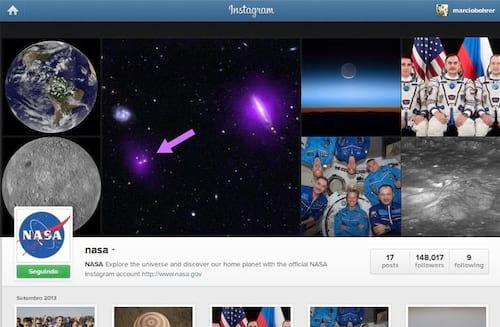 NASA cria perfil no Instagram e já possui mais de 150 mil seguidores