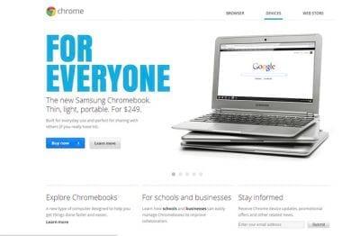 Google prepara nova linha de Chromebooks