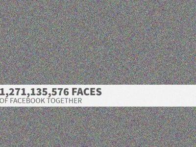 Site exibe imagem com fotos de mais de 1,27 bilhão de usuários do Facebook