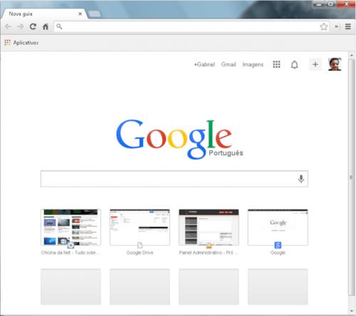 """Voltando para a antiga """"Nova Guia"""" no Chrome"""