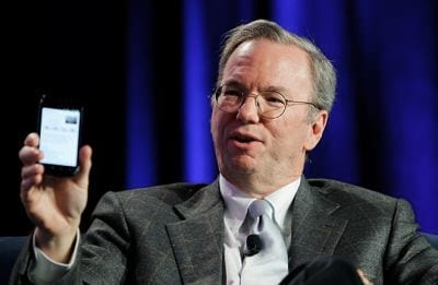 Eric Schmidt: Android é mais seguro que iPhone