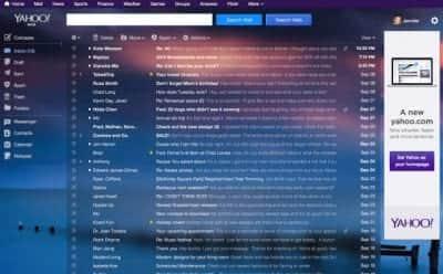 Yahoo! mail recebe novo layout