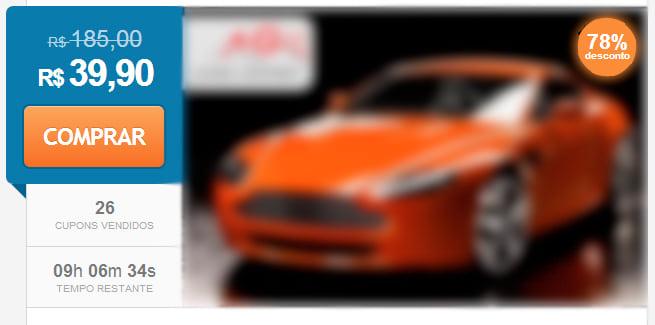 Exemplo de anúncio em site de compra coletiva
