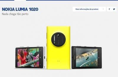 Nokia lança Lumia 1020 no Brasil por R$ 2,4 mil