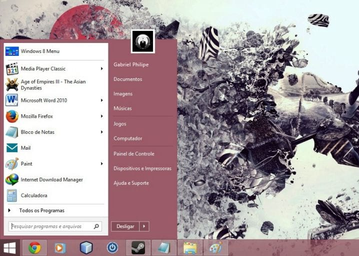 "Windows 8: Recuperando o menu ""Iniciar"""