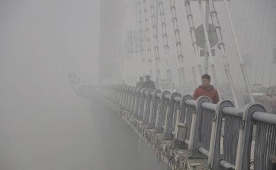 Cidade chinesa registra recorde de poluição