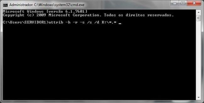 Como remover o vírus que transforma pastas e arquivos em atalhos?