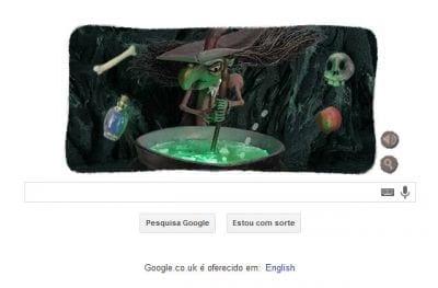 Google presta homenagem ao Dia das Bruxas através do Doodle norte-americano