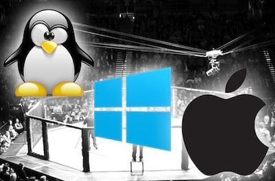 Tr�s exemplos de sistemas operacionais