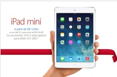 iPad mini tela Retina já está a venda no Apple Store norte-americana