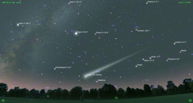 Cometa Ison está mais brilhante no espaço