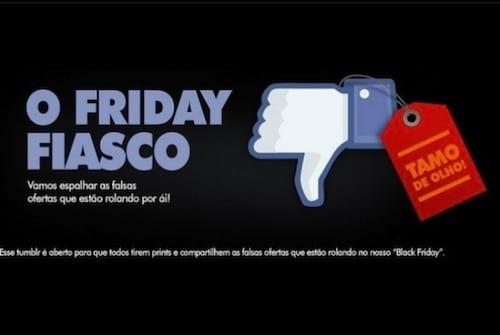 Página criada por internauta denuncia falsos anúncios da Black Friday