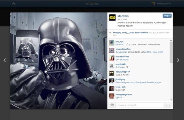 Star Wars ganha conta no Instagram