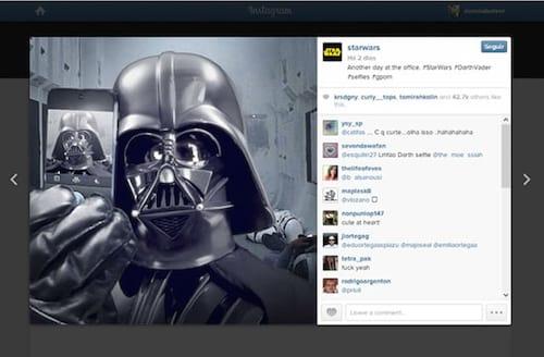 Star Wars ganha conta no Instagram