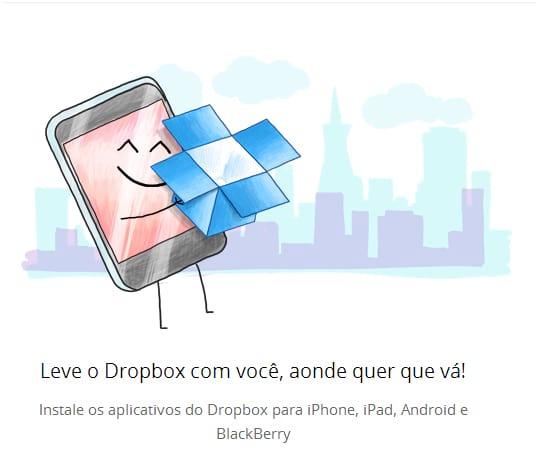 Como compartilhar uma pasta no Dropbox?