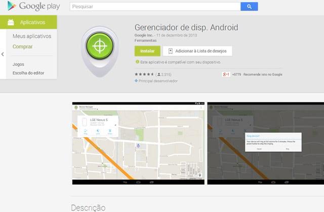 Google lança aplicativo que promete encontrar celular roubado