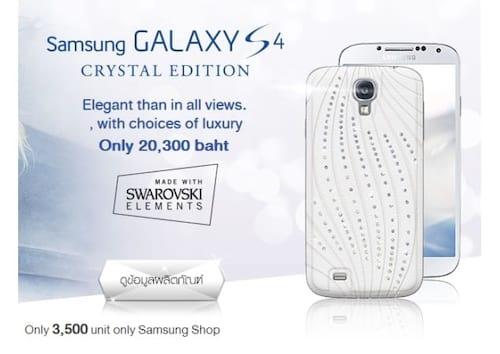 Samsung lança versão do Galaxy S4 com cristais