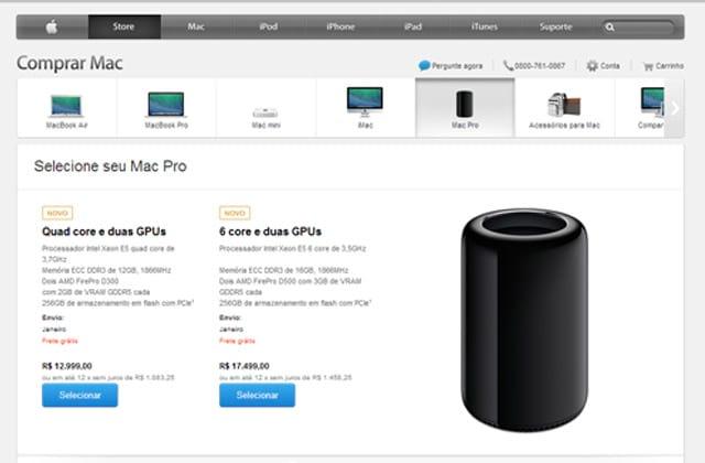 Mac Pro começa a ser vendido no Brasil