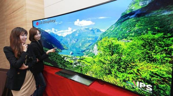 Samsung e LG lançarão TVs com tela curva de 105 polegadas