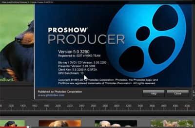 Função Publish no Proshow Producer 5